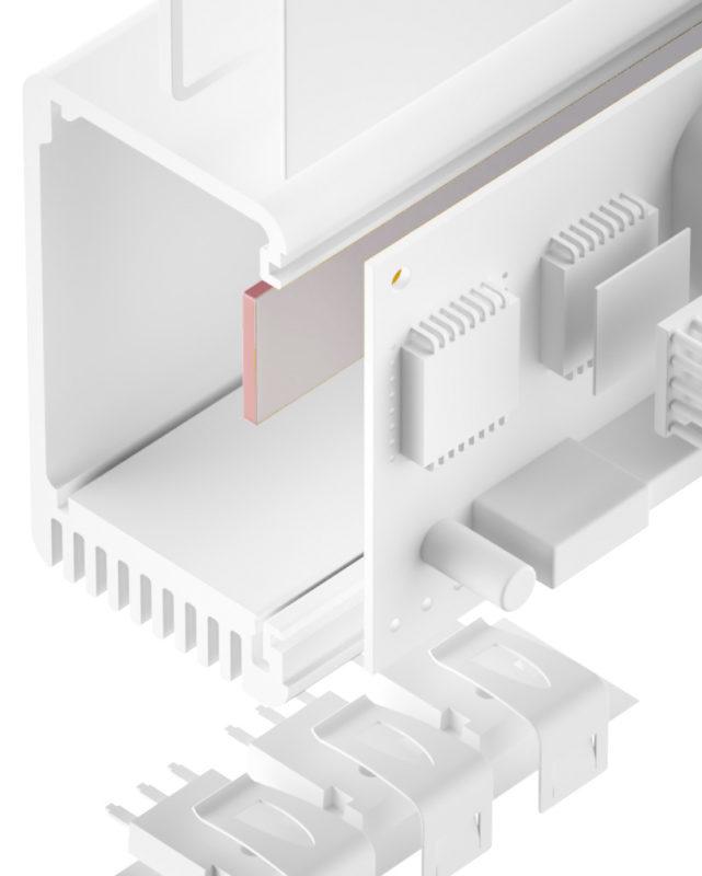 TGF-DXS-SI-GF Silikon Gap Filler sehr weich glasfaserverstärkt