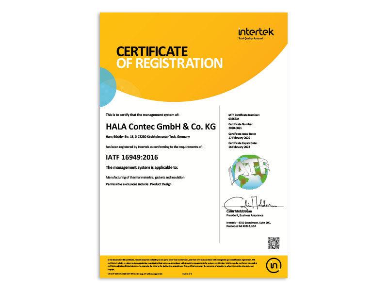 intertek Zertifikat
