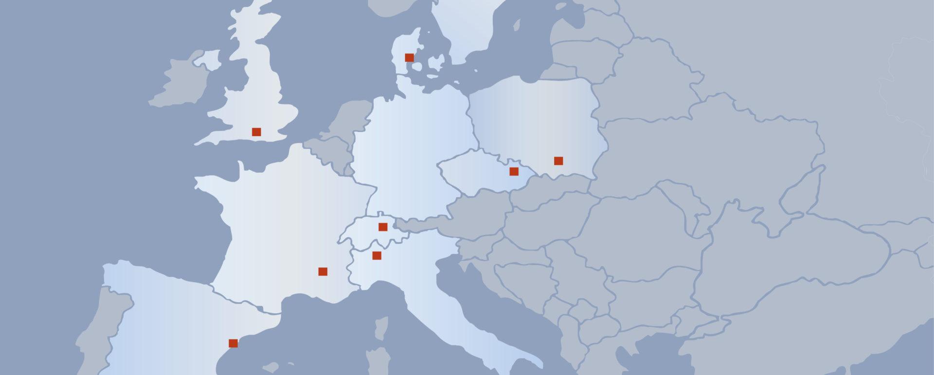 Übersicht Vertriebspartner Europa